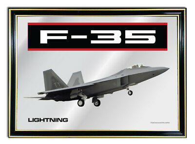 Bar-Mirror-Picture-Sign-Artwork-Suit-F-35-Lightning-Fighter-Jet-Enthusiast