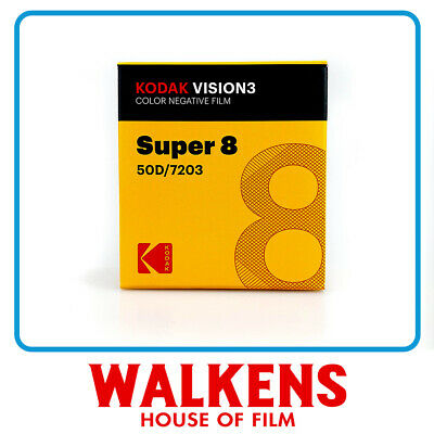 Kodak Vision3 50D #7203 - 50ft Super 8 Film - FLAT-RATE AU SHIPPING!