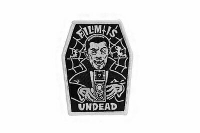 Film Is Undead - Embroidered Patch (Glows in dark!) - FLAT-RATE AU SHIPPING!