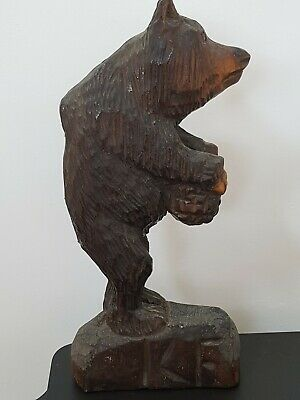 Antique Vintage Black Forest Bear Carving