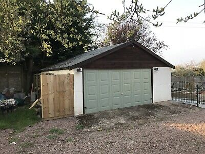 Concrete Sectional Double Garage Used