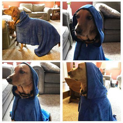 Cozy Pet Dog Cat Bathrobe Fast Dry Pet Bath Towel Quickly Absorbing Water Bath