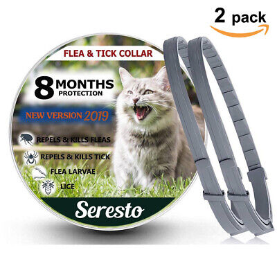2 Pack - Seresto Flea and Tick Collar for Cats 8 Month Protection New version