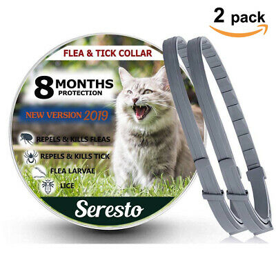 2 Pack - Seresto Flea and Tick Collar for Cats 8 Month Protection New
