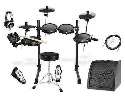 Alesis Turbo Mesh E-Drum Kit Schlagzeug Set Drum Monitor Kopfhörer Hocker Kabel