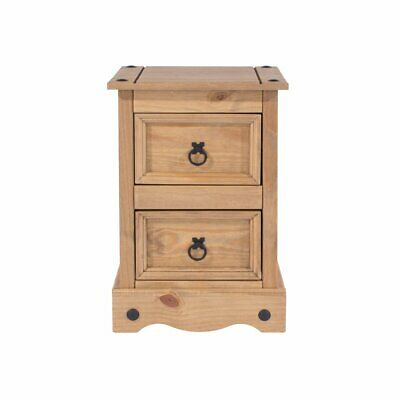 Andover Mills, Monrovia 2 Drawer, Bedside Table, Solid Wood, Pine, 2 drawers