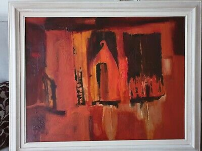 Tony Giles Large Painting On Canvas Cornwall Artist Superb!