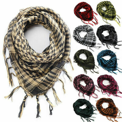 Tactical Shemagh KeffIyeh Arab Scarf Men & Womens Army Military Desert Veil Wrap
