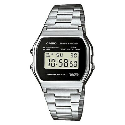 Casio Collection Herrenuhr A158WEA-1EF Digital Silber
