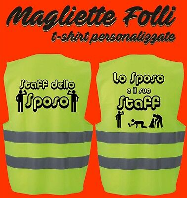ADDIO AL CELIBATO Gilet alta visibilità Idea Regalo SPOSO alternativa a t shirt
