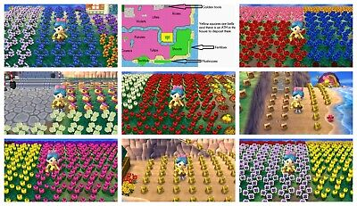 Animal Crossing New Leaf Gardening Town Fully Stocked