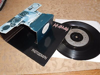 """Def Leppard, Photograph / Bringing On The Heartbreak 7"""" Rare Pop-Up Camera Cover"""