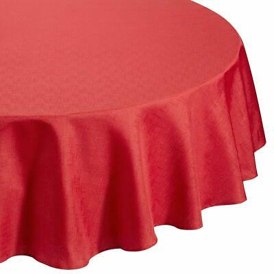 "Signature Premier Linen Look Red (69"" Inch) 175Cm Round Table Cloth"