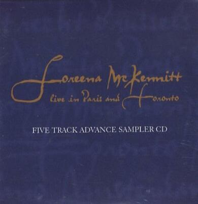 "Loreena McKennitt Live In Paris And Toronto... CD single (CD5 / 5"") CAN promo"