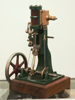 Vertical Slide Stationary Steam Engine With Governor Mechanism