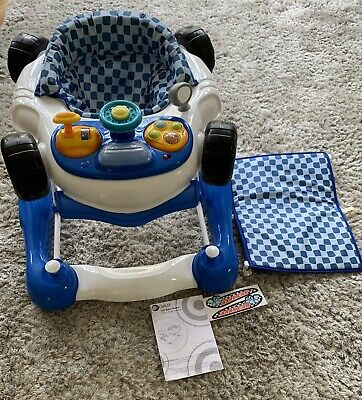 My Child Boys Car Baby Walker Adjustable Childs Musical Rocker Blue