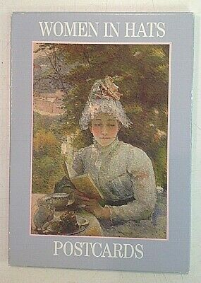 Vintage 1994 Pack of Ten Colour Postcards Women In Hats Alan Hutchison Publisher
