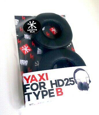 Black Yaxi Type B pads for Sennheiser HD25 MK II - Fits all HD25 Range
