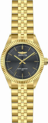 29383 Invicta Men's Specialty Quartz Black Dial Gold Tone Stainless Steel Watch