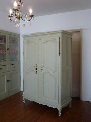 Painted Vintage Louis VX Style French Armoire Wardrobe