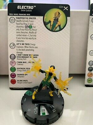 Marvel Heroclix Sinister 029 Electro Experienced