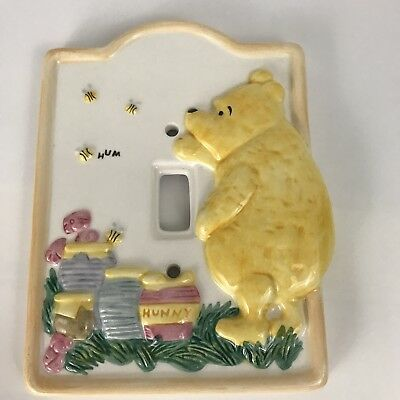 Winnie the Pooh 3D Ceramic Single Light Switch Plate Cover Yellow