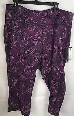 Womens Zelos Leggings Active Plus Size 2X Curvy Pink Magenta Black Work Out