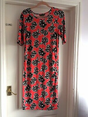 Blooming Marvellous Mothercare 12 Red Black White Floral Maternity Dress BNWT