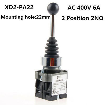 Spring Return Momentary Monolever Joystick Switch PA22 SPST 2 N.O. NO 2 Position