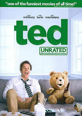 Ted (DVD, 2012, UNRATED)  Mark Wahlberg     NEW/SEALED