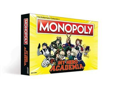 Monopoly My Hero Academia Board Game Custom Collectable Tokens Friends Family