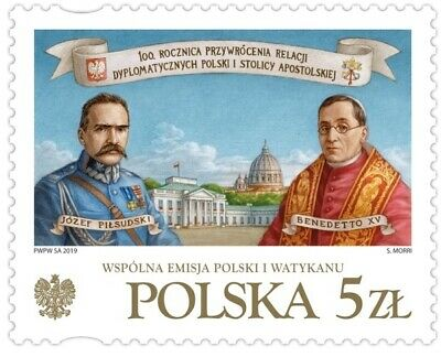 POLEN 2019 Stamp 100th anniversary of the restoration of diplomatic relations be