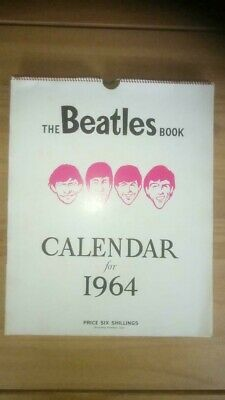 The Beatles original 1964 calender in very good condition