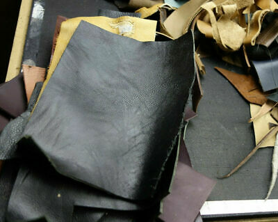 4 lbs of Horween Small Cowhide, Leather Scraps for Leathercrafts.