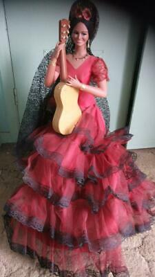 Spanish Flamenco Doll huge 25 inch size