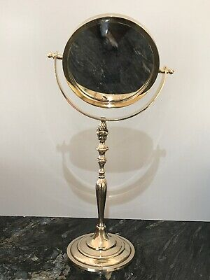 A Superb Vintage Brass Vanity/Dressing Shaving  Mirror, Made in England 42cm