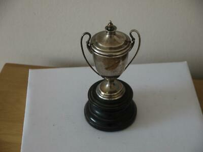 Nice Antique Sterling Silver Hm 1938 Stafford Medical Trophy Cup With Stand 69Rm