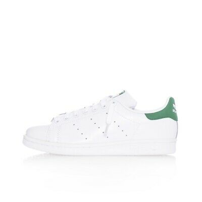 Scarpe Unisex Adidas Stan Smith M20324 Casual Leather White Bianco