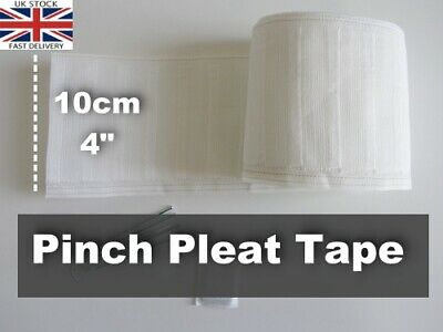 CURTAIN HEADING PINCH PLEAT HEADER TAPE 4 inch / 100mm (DIFF LENGTHS)