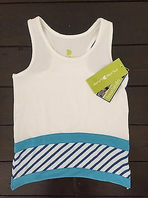 Girl's Purelime 2560 Sporty Trapeeze Racerback - White/Blue Age 7-8 Years *New*