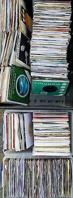 "569 x 1960s 70s 80s Vinyl 7"" Single Records JOB LOT - ALL LISTED Rock Pop Punk"