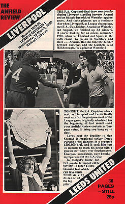 1979/80 Liverpool v Leeds United, pp with supplement, Division 1, PERFECT