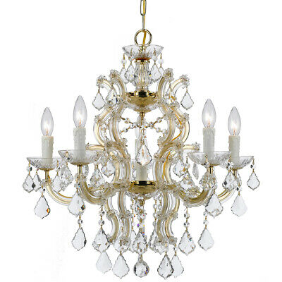 Crystorama 4335-GD-CL-MWP Maria Theresa Chandelier Gold