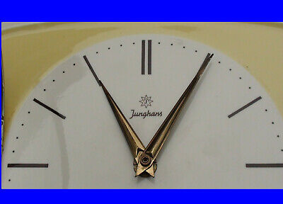 Yellow Junghans Ceramic Clock Kitchen Wall in Nice Condition made in Germany
