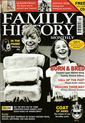 FAMILY HISTORY MONTHLY Magazine December 2006 - Working Life
