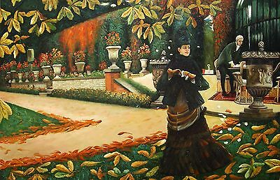 "James J ,J , Tissot - ""The Letter"" Replica Oil Painting -  36x24"