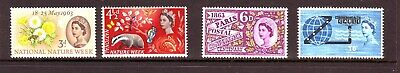 1963 Nature, Paris & Cable  Phosphor Sets V.fine U/m
