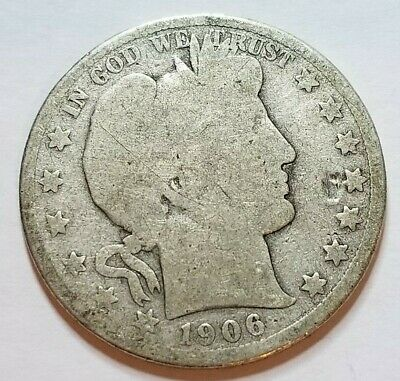 1906 Barber Half Dollar Silver Coin 50 Cent