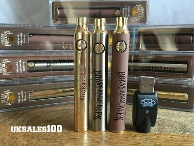 Brass Knuckles GOLD & WOOD X1,X3 Or X5 vape pen 900mAH Battery variable voltage