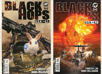 Black Hops #1 and #2 - NM- Antarctic Press - Lim/Pellegrini